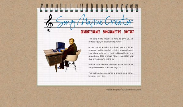 song name generator